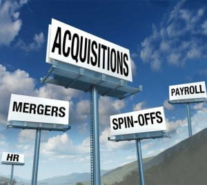 acquisitions mergers spinoffs payroll